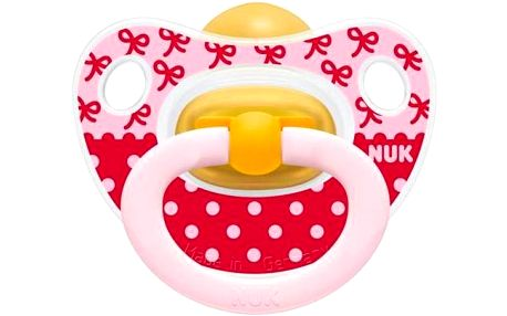 NUK Classic Happy Kids 6-18m růžové