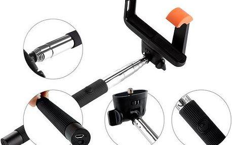 Selfie tyč GoGEN 2 teleskopická, bluetooth černáSelfie tyč