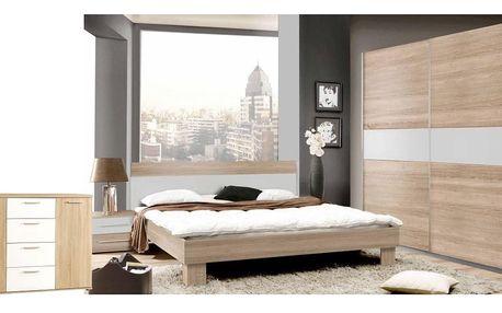 Forte GOLDSTAR, ložnice komplet, dub sonoma/bílá