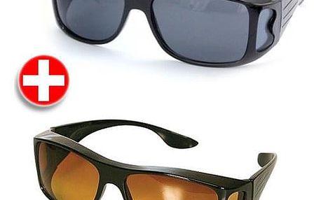 HD Vision brýle pro řidiče - 2 kusy pro den i noc