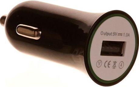 OEM nabíjecí adaptér do auta s USB portem černý