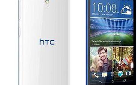 HTC Desire 620G (A31MG) Gloss White / Blue Trim Dual SIM