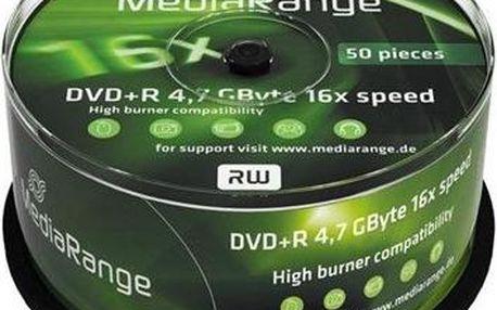 Mediarange DVD+R 4.7 GB 16x spindl 50 ks (MR445)