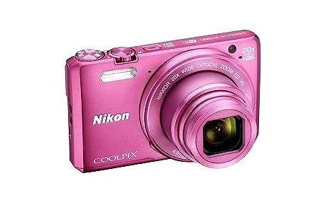 Nikon COOLPIX S7000 růžový + pouzdro + 8GB SD karta
