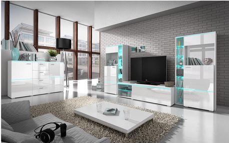 Luxusní obývací stě›na Atom, bílý lesk