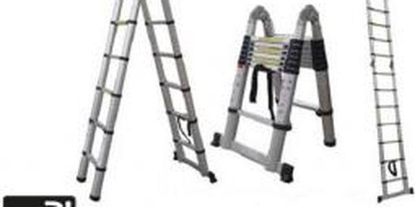 Teleskopický žebřík/štafle G21 GA-TZ16 - 5m