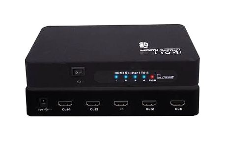 PremiumCord Externí HDMI Splitter, 4x port HDMI 1.4 černý (khsplit4b)