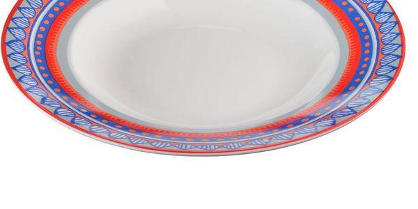 Sada 4 porcelánových talířů na polévku Oilily 24,5 cm, modrá