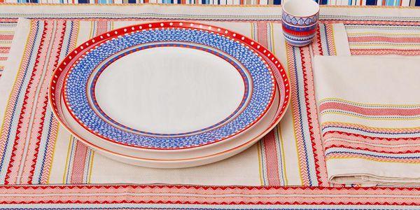 Sada 4 porcelánových talířů na polévku Oilily 24,5 cm, modrá3