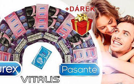 Prémiové balíčky kondomů Durex nebo Pasante + dárek ke každému balíčku. Poštovné zdarma.