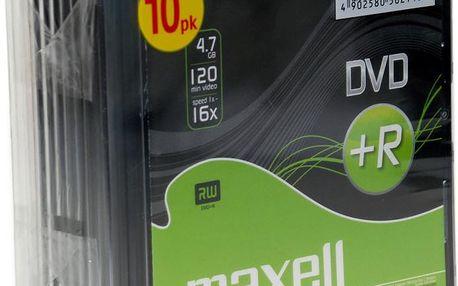 Maxell DVD+R 4,7GB 16x 10PK SC 275631