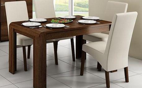 Jídelní stůl Link v čokoládovém odstínu s vysokou odolností vůči poškrábání