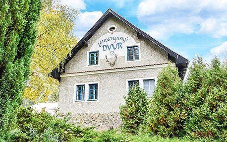 3 až 8denní pobyt s polopenzí pro 2 v hotelu Landštejnský dvůr ve Slavonicích