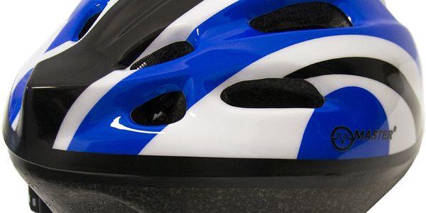 Cyklo přilba s blikačkou MASTER Flash - modrá3