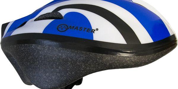 Cyklo přilba s blikačkou MASTER Flash - modrá4