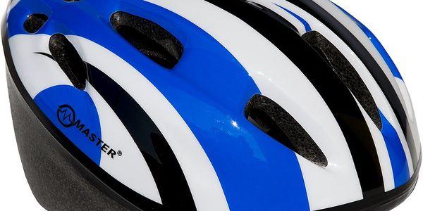 Cyklo přilba s blikačkou MASTER Flash - modrá