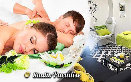 Párová masáž v délce 60 minut. Ajurvédská nebo aromaterapeutická masáž v Ostravě.
