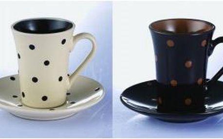 Hrnek na kávu s podšálkem 180 ml, sada 4ks WELLBERG WB-20103