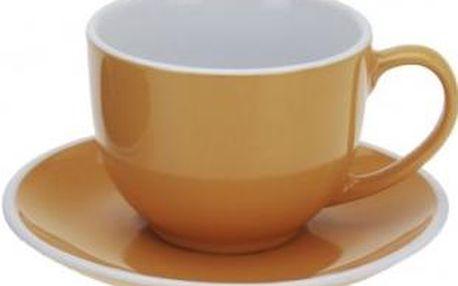 Hrnek na cappuccino 220 ml, oranžový EXCELLENT KO-Q75100430oran