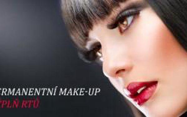 Permanentní make-up výplň rtů na klinice Towell. Š...