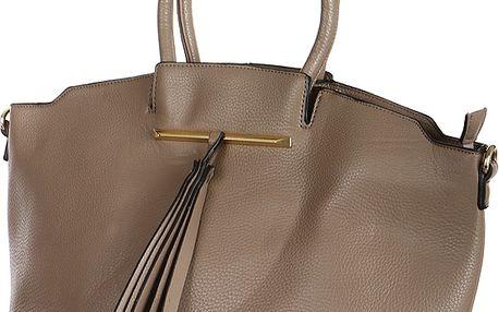 Dámská společenská kabelka šedá