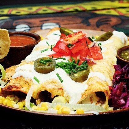 Enchiladas pro dva v mexické restauraci Pancho's