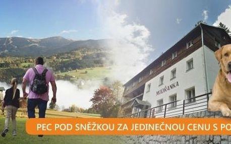 Výhodně! Až 8 dní v Peci pod Sněžkou s polopenzí v penzionu Modřanka.