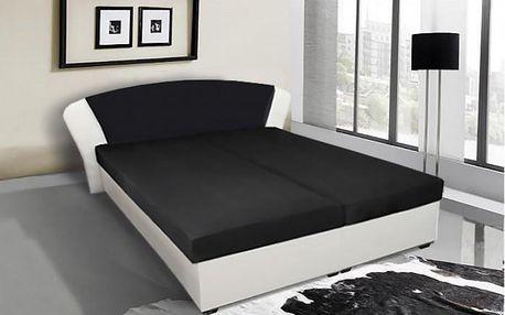 Celočalouněná postel Kula s úložným prostorem, včetně roštu a matrace