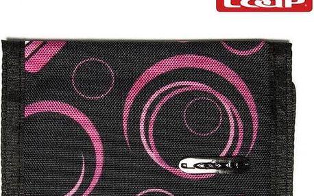 Peněženka Loap Wallets černo růžová 3BA12107/1