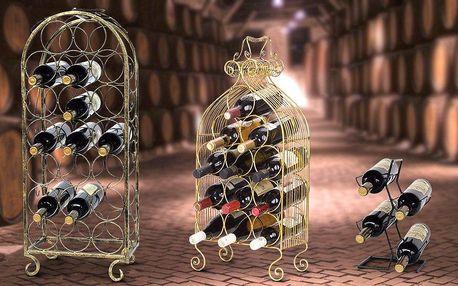 Praktické i elegantní stojany na víno
