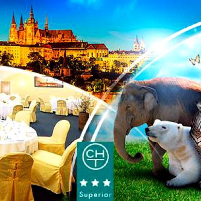 Praha na 3 až 4 dny pro 2 osoby nebo celou rodinu v hotelu Chvalská Tvrz*** + snídaně a vstup do ZOO
