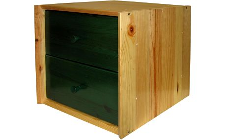 Skříňka se zásuvkami, lak/zelená 03403L3