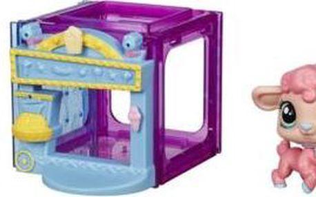 Littlest Pet Shop zvířátko s mini domečkem - ovečka