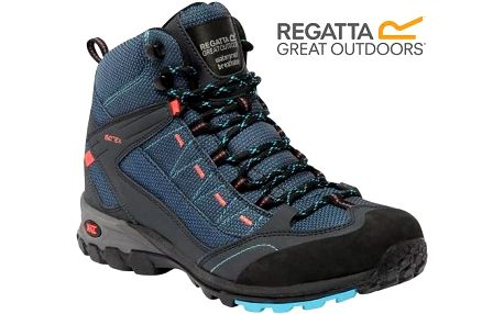 Dámské vysoké boty Regatta RWF316 Lady ULTRA-MAX MID MorocBlue/Coral