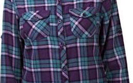 Dámská košile s dlouhým rukávem CRAGHOPPERS CWS426 BRAWORTH Shirt Lagoon / Plum