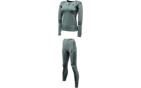 Dámský termo set Dare2B DWU039 ZONAL II B/L Set Charcoal Grey