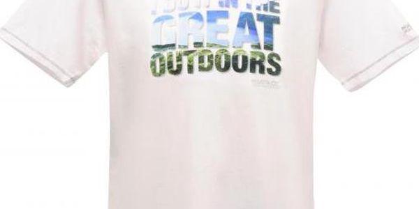 Pánské tričko Regatta RMT092 ORION White L3