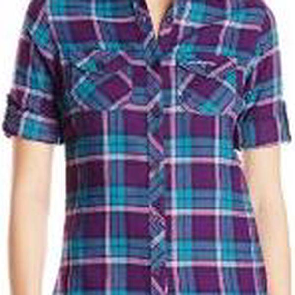 Dámská košile s dlouhým rukávem CRAGHOPPERS CWS426 BRAWORTH Shirt Lagoon / Plum 362