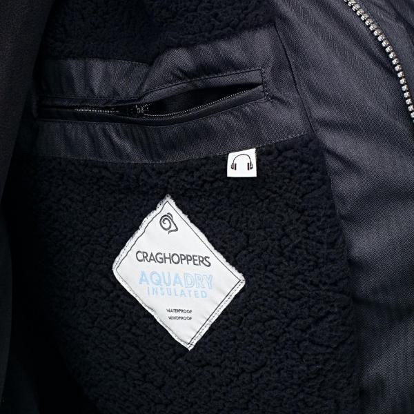 Pánská bunda CRAGHOPPERS CMP220 LEVEN PARKA BlackPepper L4