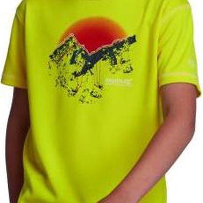 Dětské juniorské triko Regatta RKT053 ABIS Bright Yello