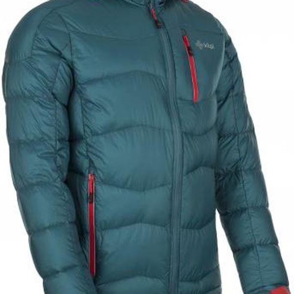 Pánská zimní péřová bunda KILPI NESTORE tyrkysová XL2