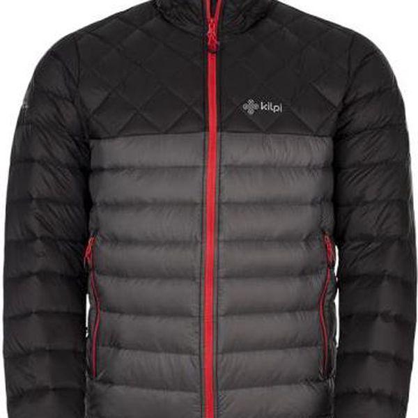 Pánská zimní lehká péřová bunda KILPI EVERETT tmavě šedá