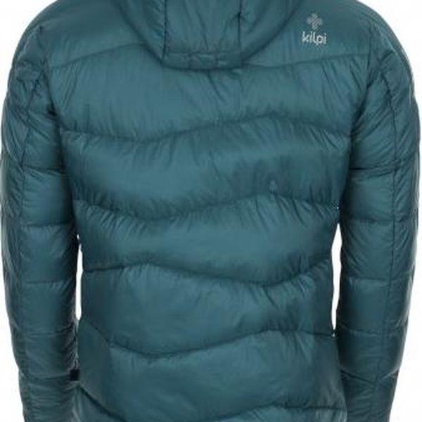 Pánská zimní péřová bunda KILPI NESTORE tyrkysová XL3