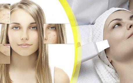 Hluboké čištění pleti ultrazvukem se speciální maskou, více než 80% čistých porů! Čištění mastné a aknózní pleti s maskou a s mikromasáží očního okolí! Přestaňte se trápit pupínky a rozšířenými póry! Studio Janebe přímo 3 min od metra C