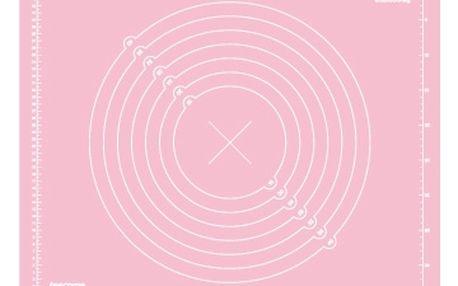 Vál silikonový DELÍCIA DECO 55x45 cm, růžová