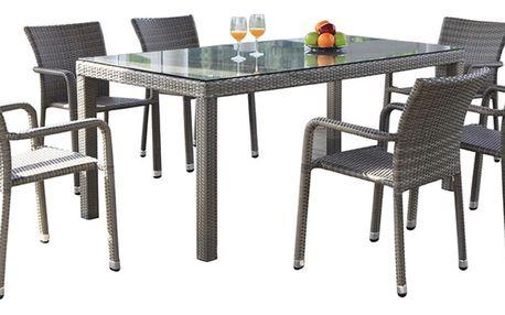 BARCELONA jídelní stůl hnědý