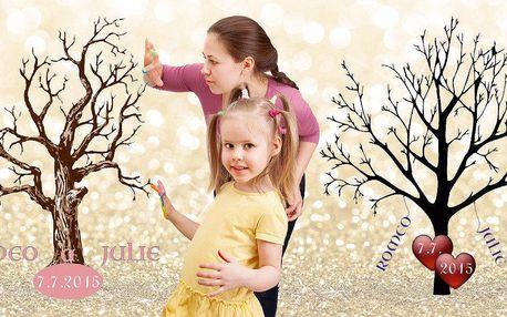 Svatební nebo narozeninový strom na plátně
