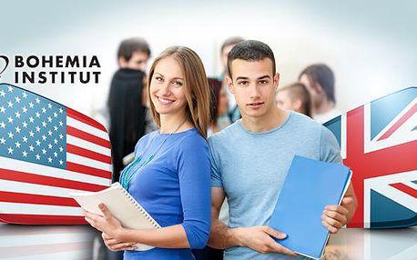 Intenzivní jazykový kurz: angličtina na 24 nebo 36 lekcí, malé skupiny, možný test TOEIC