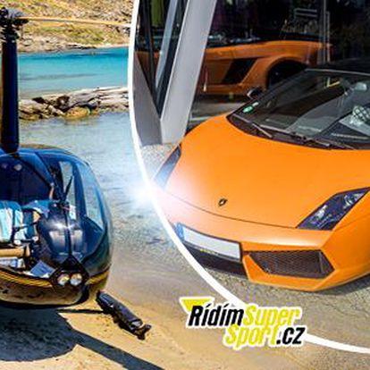 Zážitková jízda v Lamborghini nebo helikoptéra a vyhlídkový let. Řidič nebo spolujezdec, Praha
