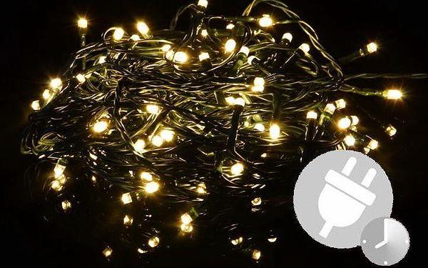 Nexos 33556 Vánoční LED osvětlení 4 m - teple bílé 40 LED s časovačem2